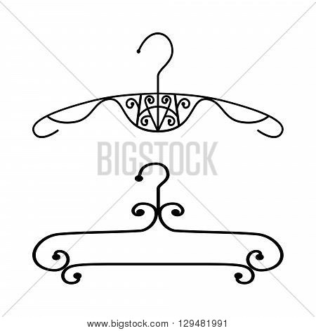 Icon clothing hanger, accessories for fashion.Vector illustration