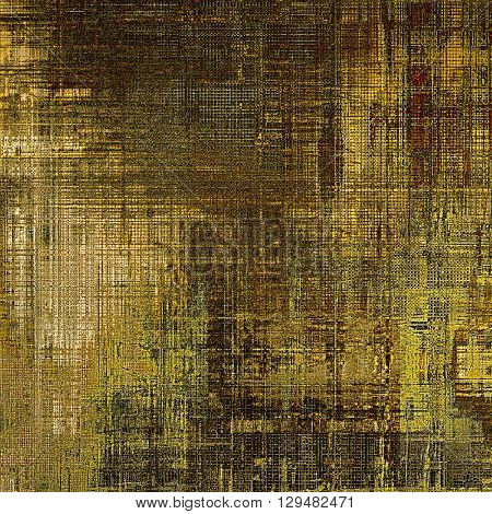 Oldest vintage background in grunge style. Ancient texture with different color patterns: yellow (beige); brown; gray; black