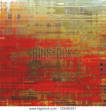 Grunge old texture used as abstract vintage style background. With different color patterns: yellow (beige); brown; red (orange); green; gray