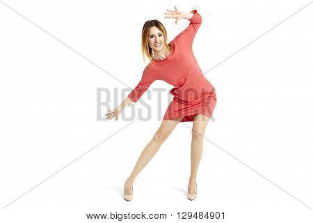 Beautiful Woman Moves Like Goalkeeper