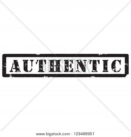 Vector illustration black grunge rubber stamp with text authentic isolated on white background