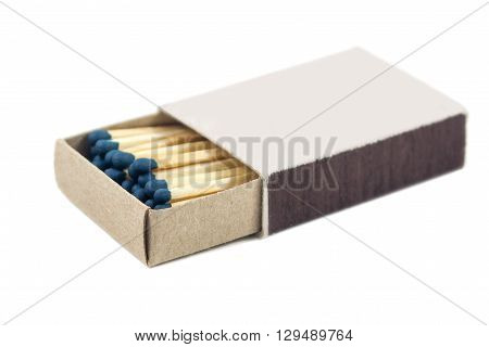 Box of matches isolated on white background matches.