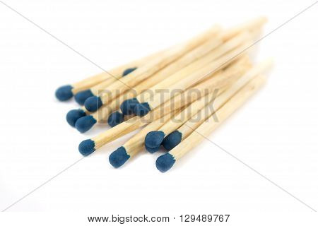 Matches isolated on white background. close-up object.