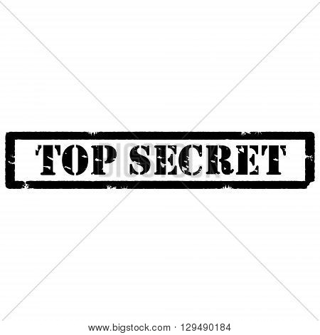 Black rubber stamp with text top secret vector isolated on white