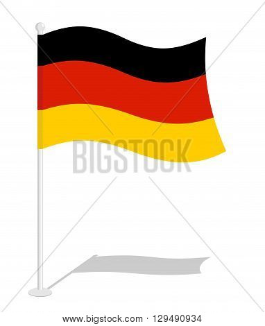 Germany Flag. Official National Symbol Of German Republic. Traditional German Flag Emerging European
