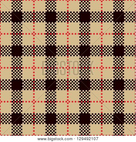 Check Plaid Patterns. Lumberjack Flannel Shirt Inspired. Square Pixel Gingham. Seamless Tiles. Trendy Hipster Style Backgrounds. Vector File's Pattern Swatches