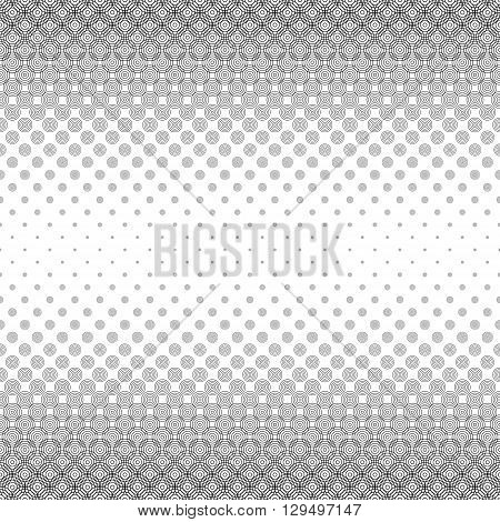 Seamless monochrome abstract circle pattern border background