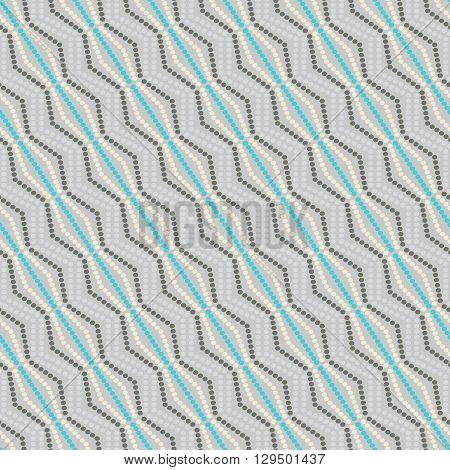 seamless geometric pattern dots -vector illustration. Print texture original fabric pattern.