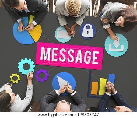 Message Information Communication Letter Concept