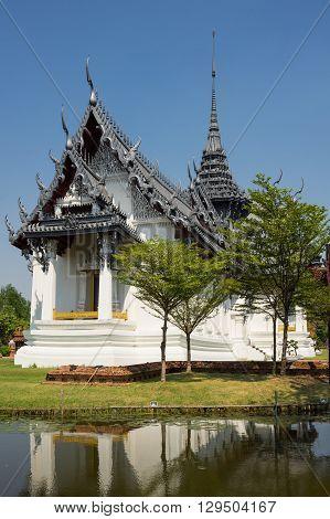 Sanphet Prasat Palace in Samut Prakan province Thailand