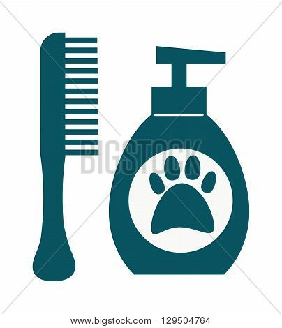 Pet dog shampoo flat icon grooming health bathtub hygiene vector. Dog hygiene shampoo grooming health tub and bathtub dog hygiene shower. Dog hygiene grooming, shampoo bubble hygiene wash tub.