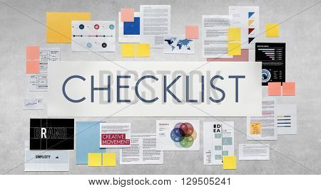 Checklist Reminder Important Task Remember Concept
