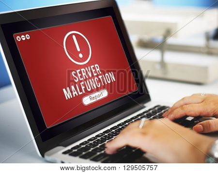 Server Malfunction Network Problem Technology Software Concept
