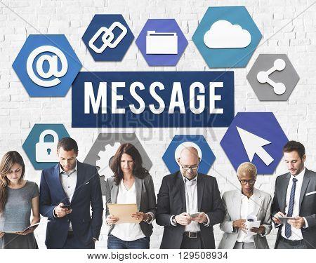 Message Computing Technology Concept
