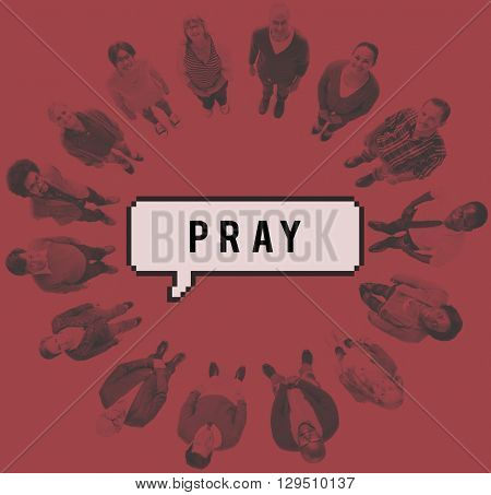Pray Prayer Faith Confession Hope Religion Worship Concept