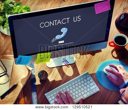 Contact Hotline Call Advice Communication Concept