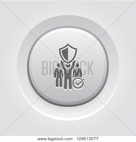 Private Security Icon. Business Concept Grey Button Design
