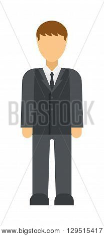 Business man icon abstract silhouette office people vector. Abstract silhouette business people icon and abstract business man person. Abstract businessman silhouette profile