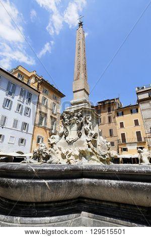 Ancient Egyptian obelisk Piazza Rotonda Rome Italy