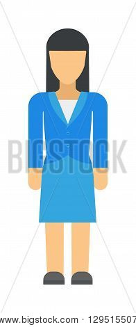 Vector business woman black silhouette walk step forward full length over white background. Business woman silhouette vector and design body group work business woman silhouette figure pose success.