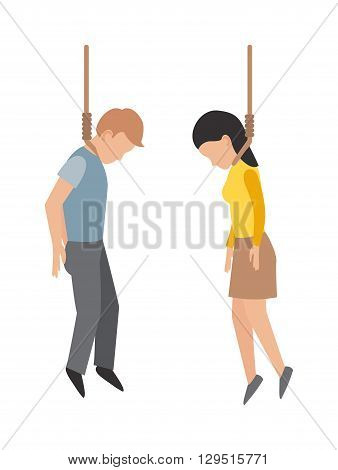 Suicide gallows people, despair, death and gallows people concept. Gallows people young man making gallows or hanged gesture and crime young gallows people execution punishment noose death hang.