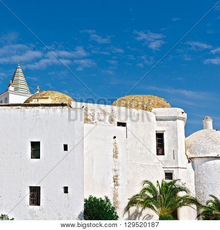 White Church in the Spanish City of Cadiz
