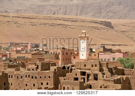 Old village in the Atlas Mountains Morocco North Africa