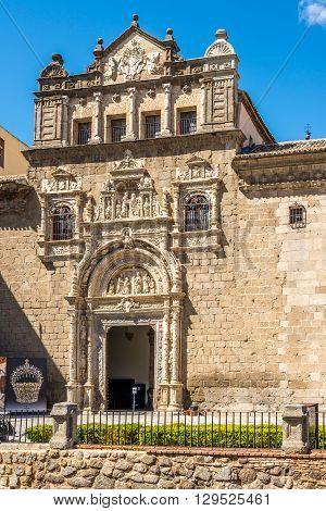 TOLEDO,SPAIN - APRIL 23,2016 - Museum of Santa Cruz in Toledo. Toledo is known as City of the Three Cultures .