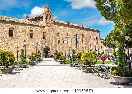 TORRIJOS,SPAIN - APRIL 23,2016 - Palace De Pedro - Town Hall in Torrijos.Torrijos is a Spanish municipality of Toledo province.