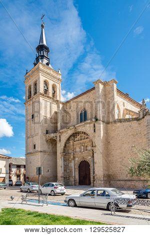 TORRIJOS,SPAIN - APRIL 23,2016 - Church Santisimo Sacramento in Torrijos. Torrijos is a Spanish municipality of Toledo province.
