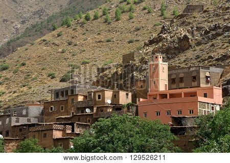 Mosque in the Atlas Mountains, Morocco, North Africa