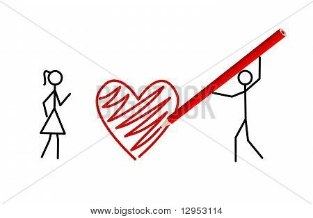 Stickman's Valentine, Two Stickmans In Love