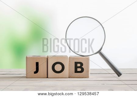 Job Word With A Magnifying Glass