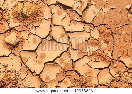 abstract cracked mud or soil ground texture background