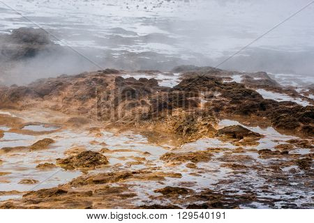 Geothermal Surface In Icelandic Nature