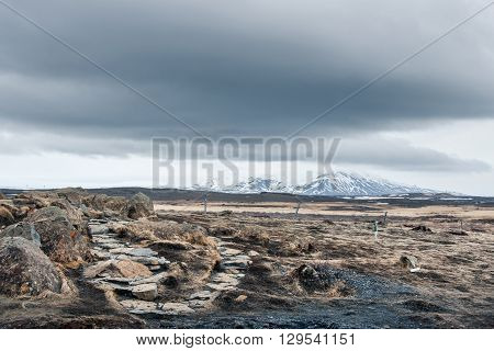 Ice Age Landscape From Iceland