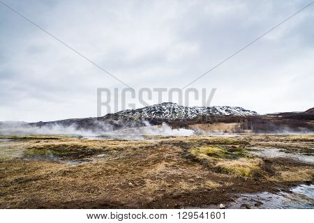 Misty Landscape From Iceland