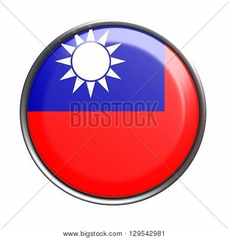 Silhouette Of Taiwan Button