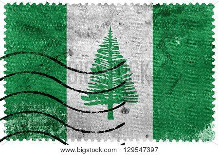 Flag Of Norfolk Island, Old Postage Stamp