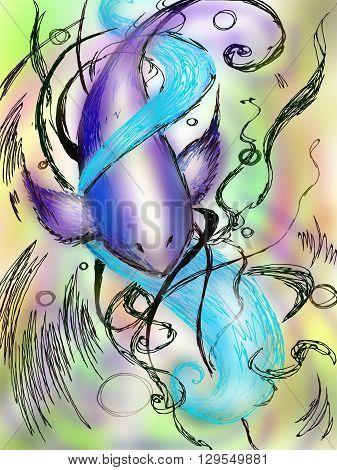 абстрактный графический рисунок,которой я нарисовала в графической программе