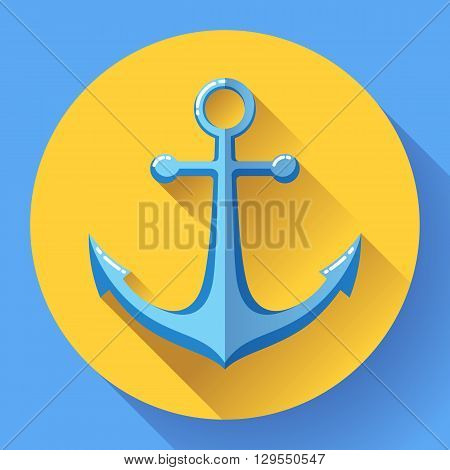 Anchor text icon, vector illustration. Flat design style