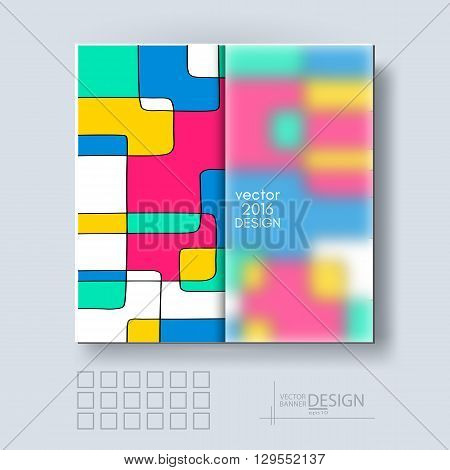 Multicolor Design Templates with Frosted Glass Insert. Geometric Abstract Modern Vector Background.