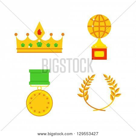 Honors icons vector illustration.