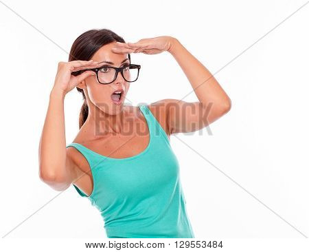 Shocked Adult Woman With A Hand To Her Forehead