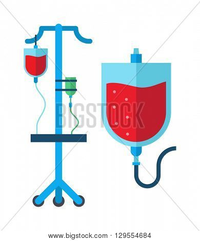 Blood transfusion vector illustration.
