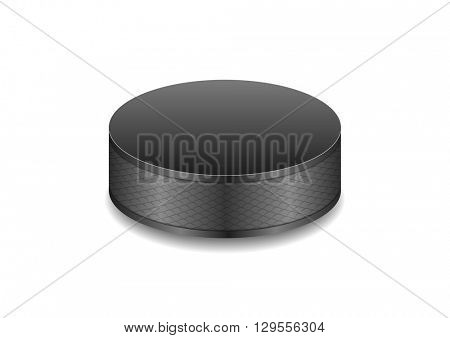Hockey black puck abstract vector background
