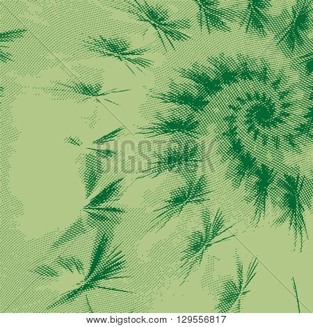 Stylized flower with engraving effect. Vector ornament.