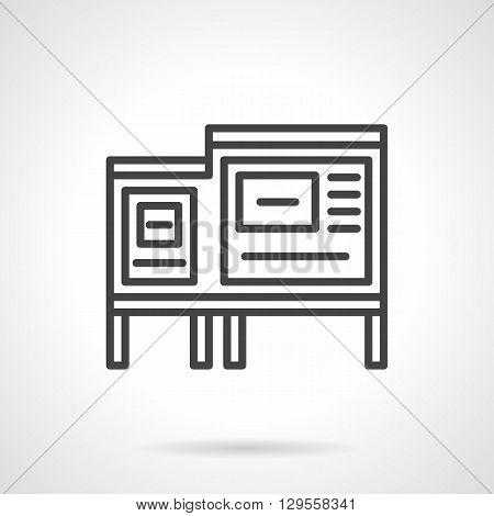 Advertising boards or stands. Announcements, outdoor advertising, information on urban streets and roads. Simple black line vector icon. Single element for web design, mobile app.