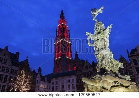 Cathedral of Our Lady in Antwerp in Belgium