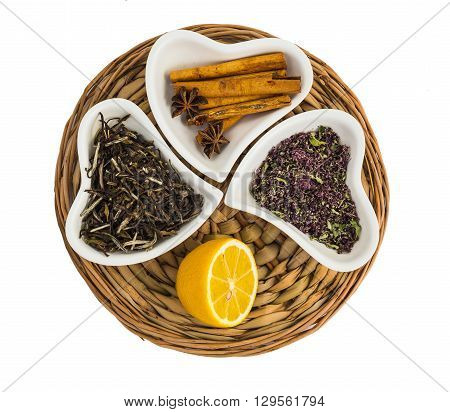 Traditional Ingredients For Tea, Lemon And Spices
